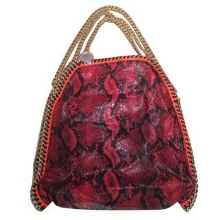 Stella McCartney Red Snake Print Falabella