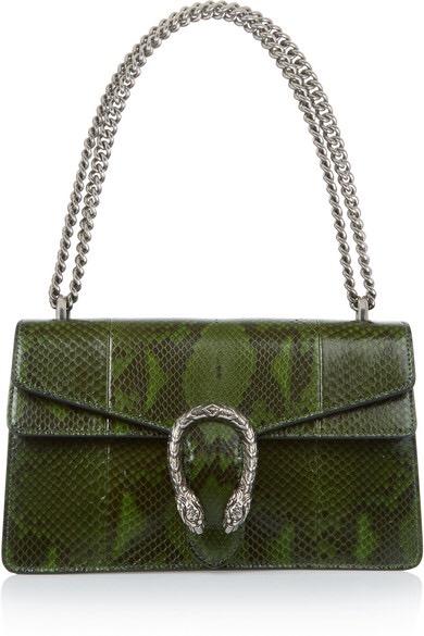 Gucci Green Python Dionysus