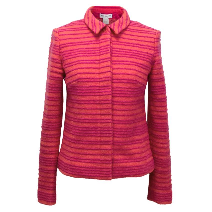 Guy Laroche Striped Wool Jacket