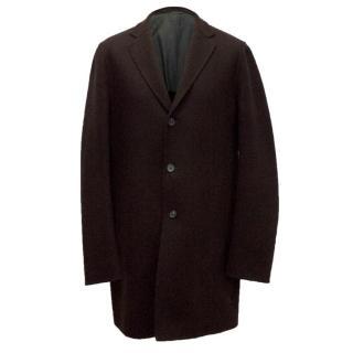Jil Sander Maroon Wool Coat