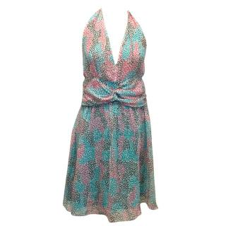 Diane von Furstenberg Silk Printed Halter Dress