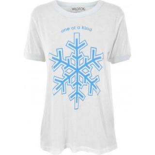 Wild Fox  Couture 'one of a kind' Snowflake Cream TShirt