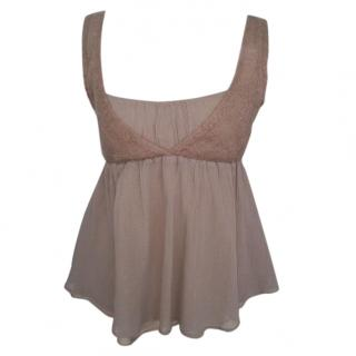 Vanessa Bruno pink silk and cotton top