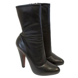 Alaia Platform Stretch Leather Boot
