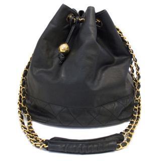 Chanel Vintage Leather Bucket Bag