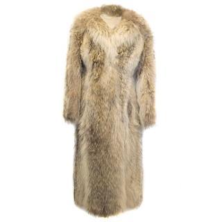 Long Fox Fur Coat