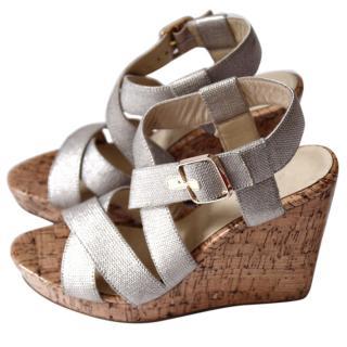 Bimba & Lola Golden Wedges Sandals