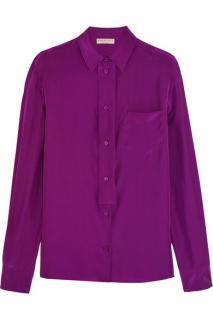 NEW EMILIO PUCCI Silk-satin shirt