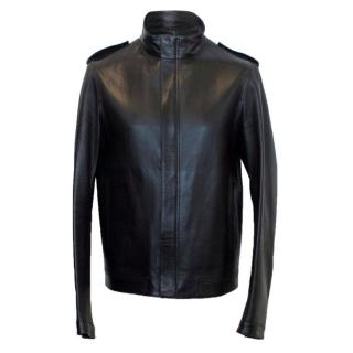 Simon Spurr leather bomber jacket