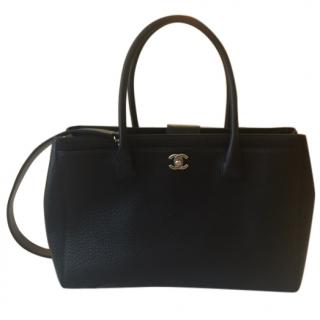 Chanel Cerf Black Tote Handbag