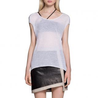 Helmut Lang White T Shirt Top
