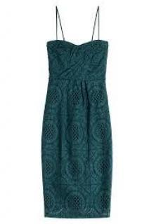 Burberry Sonya green lace dress