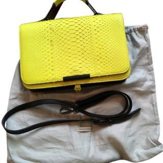 Emilio Pucci Newton Bag in fluorescent yellow python