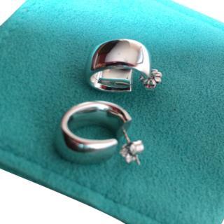 Tiffany & Co 18k White Gold Hoop Earrings