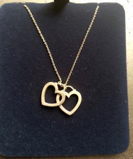 Tiffany &Co 18k Rose Gold Hearts Necklace