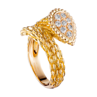 Boucheron Serpent Boheme 18 ct Yellow Gold and Diamond Ring