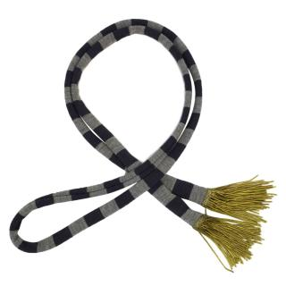 Burberry  navy and grey striped scarf  with tassels