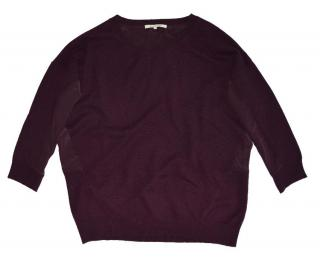 Gerard Darel Burgundy Wool Jumper with silk back.