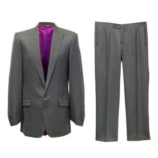 Dolce & Gabbana men's pinstriped suit