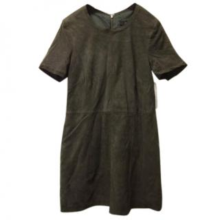 Muuba coffee colour soft leather/ suede dress