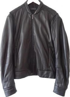 Calvin Klein Collection | Italian Leather Bomber Jacket (38)