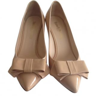 Russell and Bromley nude patent shoes