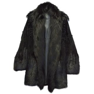 Gucci  Fur Coat with Soft Black Leather Lining