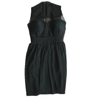 Robert Rodriguez Black Silk Dress