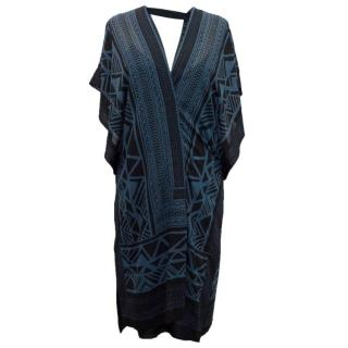 Donna Karen Silk Pattern Dress