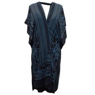 Donna Karen Silk Pattern Dress