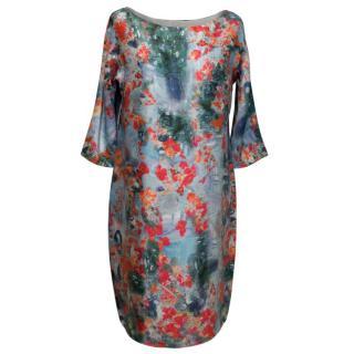 Erdem Firebird Blossom Silk Dress