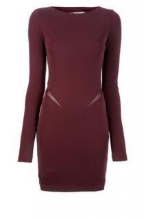 Alexander Wang burgundy evening dress