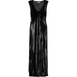 T BY ALEXANDER WANG black panne velvet maxi dress