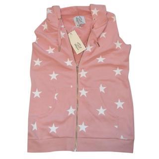 Zoe Karssen pink star zip hooded top