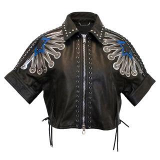 Diesel Black Gold embellished leather jacket