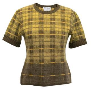 Yves Saint Laurent Tartan Mohair Sweater