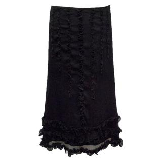 Moschino Cheap & Chic Midi Skirt with Ruching