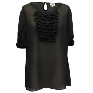 Temperley Silk Top with Ruffle