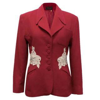 Lolita Lempicka Blazer with Contrast Embroidery