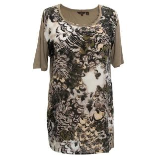 Mulberry Feather Print Tee