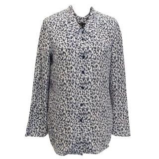 Theyskens' Theory Animal Print Silk Shirt