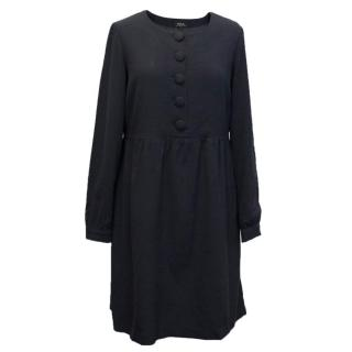 A.P.C Swing Dress with Long Sleeves