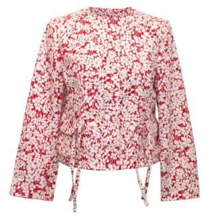 Burberry Floral Print Cropped Jacket