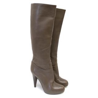 Bally Calf Length Leather Boots