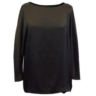 Theory Long Sleeved Silk Blend Top