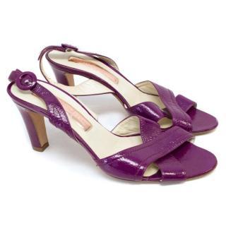 Rupert Sanderson Patent Slingback Sandals