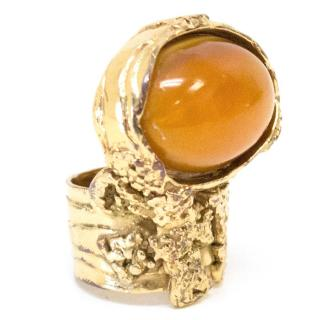 Yves Saint Laurent Gold Plated Arty Ring