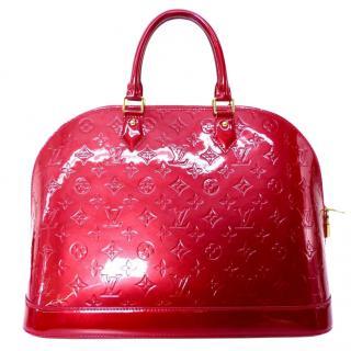 Louis Vuitton Alma GM Pomme d'Amour Monogram Vernis Handbag