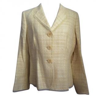 Gerrard Darel Linen and Cotton Blend Tweed Jacket