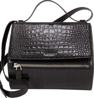 GIVENCHY Croc-Stamped Pandora Box Crossbody Bag